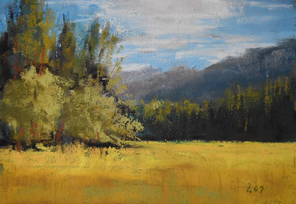 """On the way to Winthrop"" original fine art by Alejandra Gos"