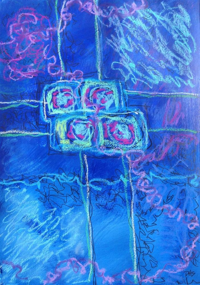 """Swimming through Tears"" original fine art by Dotty Seiter"