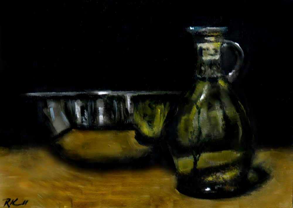 """Italiano Seasoned Oil"" original fine art by Bob Kimball"