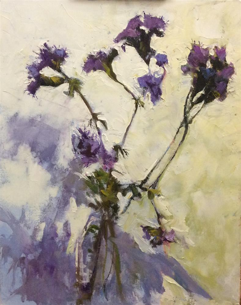 """Purple and Gold"" original fine art by John Shave"