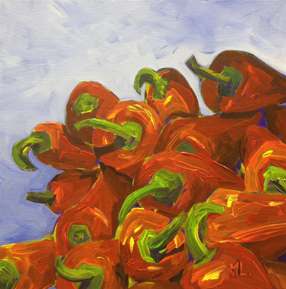 """Peppers Puzzle"" original fine art by Mónica Linares"