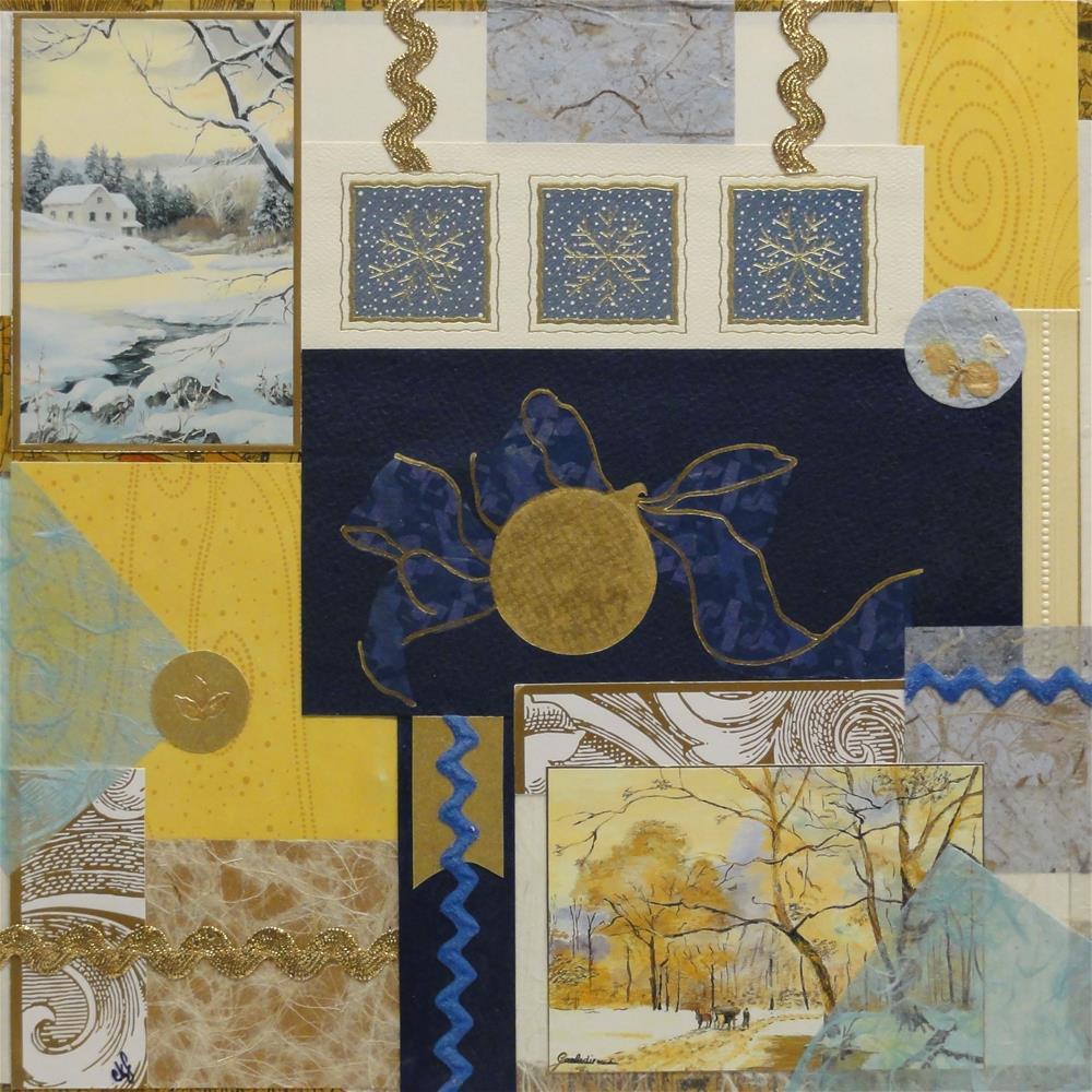 """Merry and Bright"" original fine art by Cynthia Frigon"