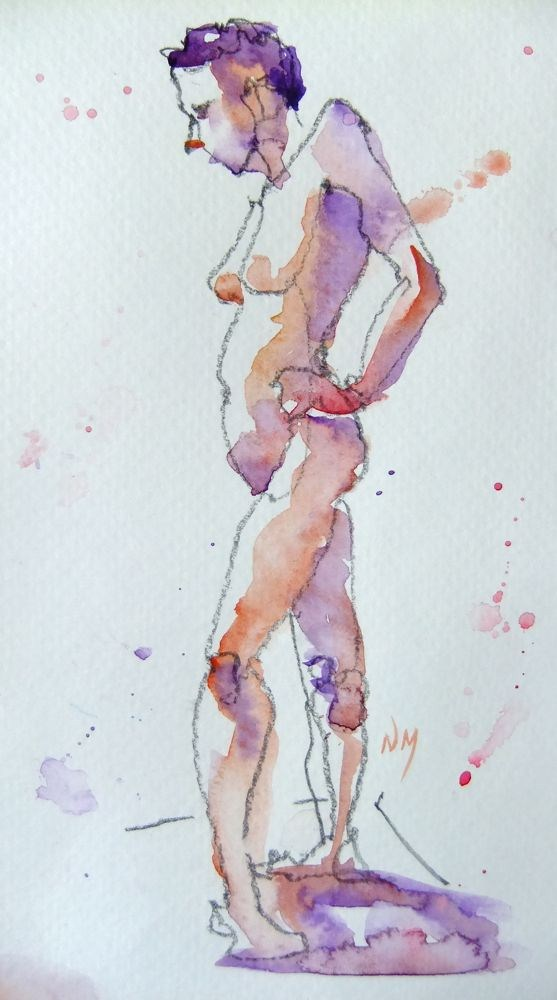 """life drawing study 1"" original fine art by Nora MacPhail"