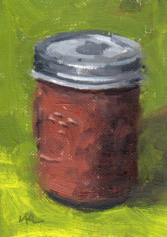 """A Jar of Apple Butter"" original fine art by Marlene Lee"