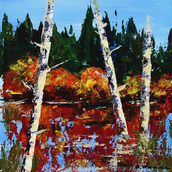 """Autumn Pond"" original fine art by Anna Vreman"