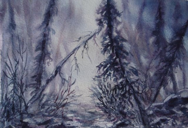 """Forest Meditation"" original fine art by Jackie Irvine"