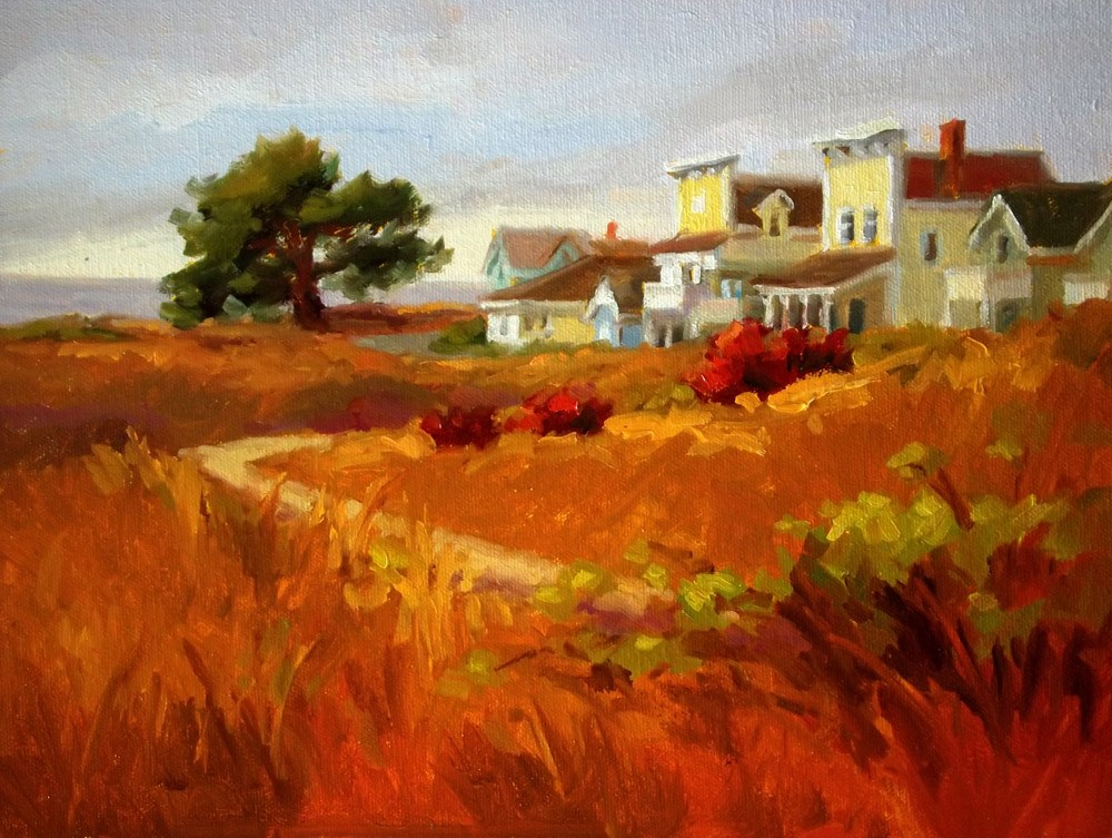 """Welcome to Mendocino"" original fine art by Erin Dertner"
