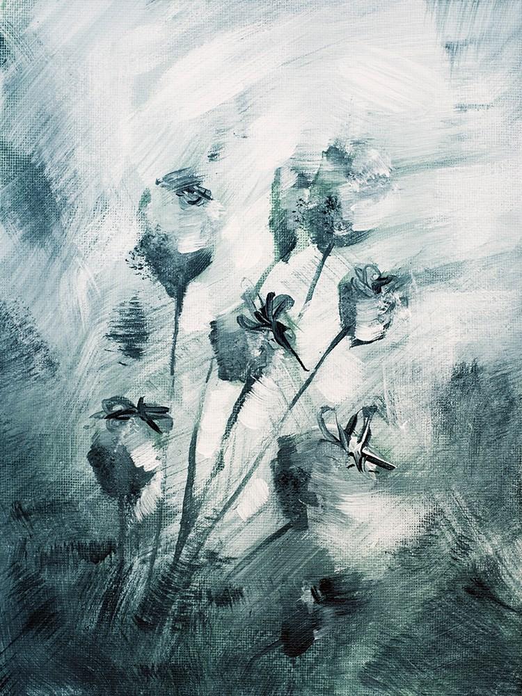 """Ice Flowers"" original fine art by Franziska Schwade"