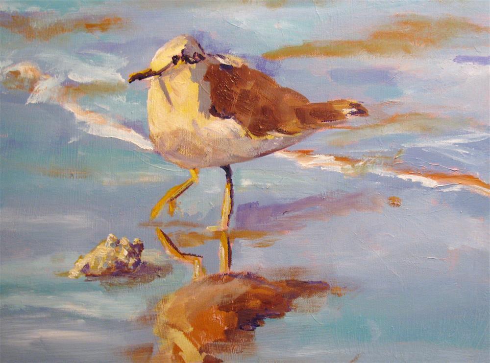 """Sand Piper"" original fine art by Susan Elizabeth Jones"