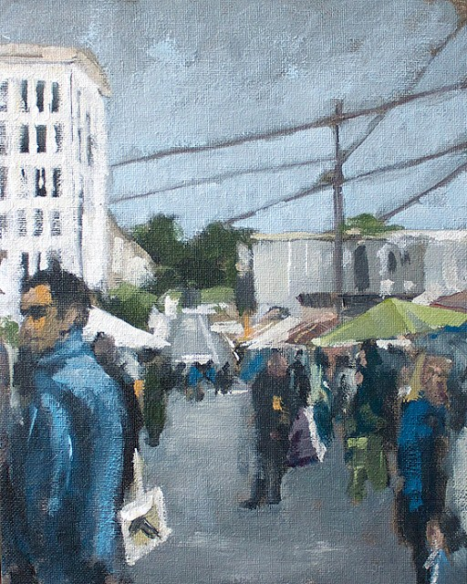 """Market"" original fine art by J. Farnsworth"