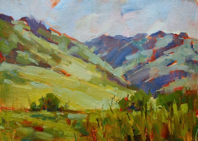 """Cottonwood Canyon"" original fine art by Melanie Thompson"