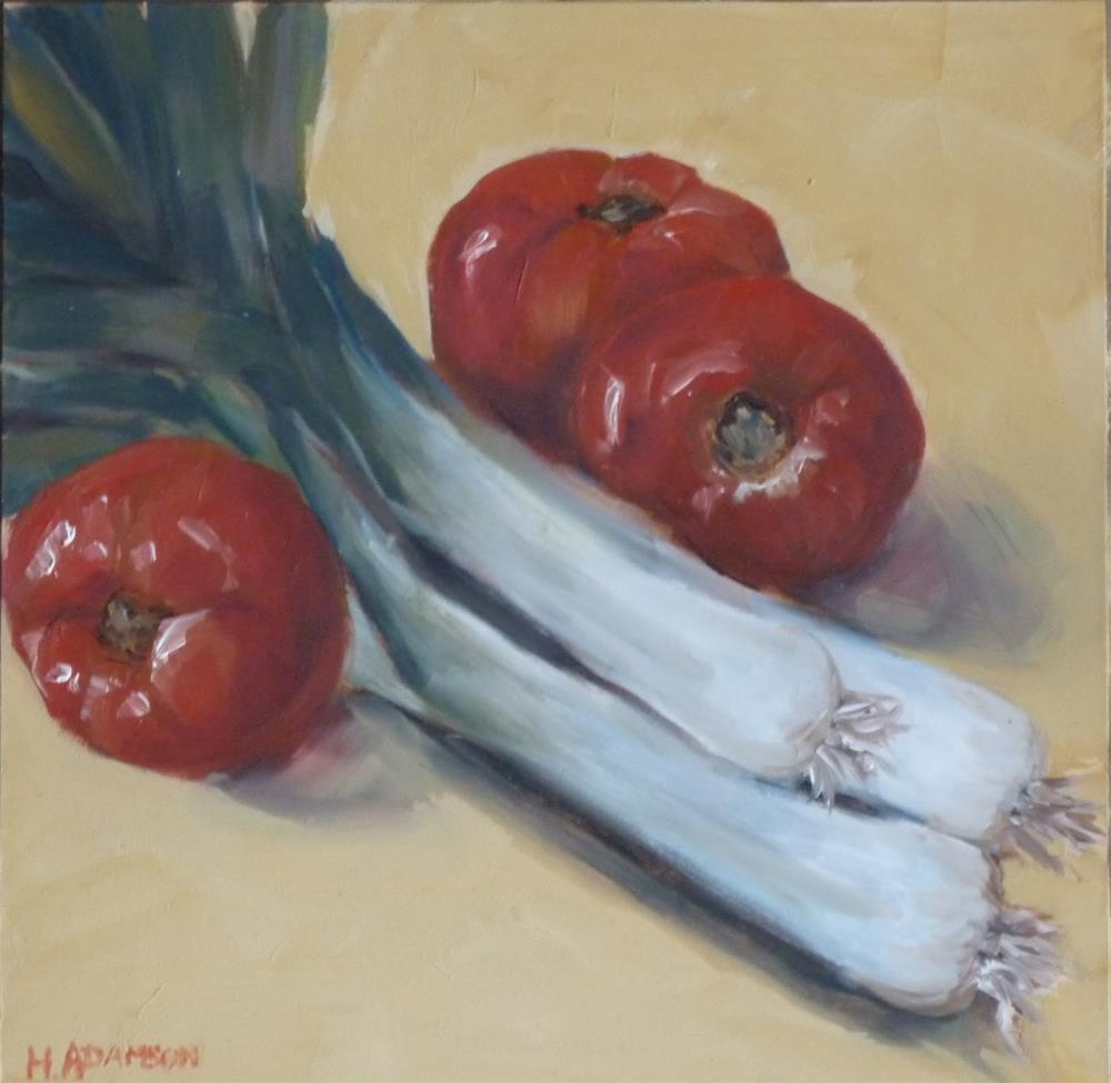 """""""Soup Starters"""" original fine art by Helene Adamson"""