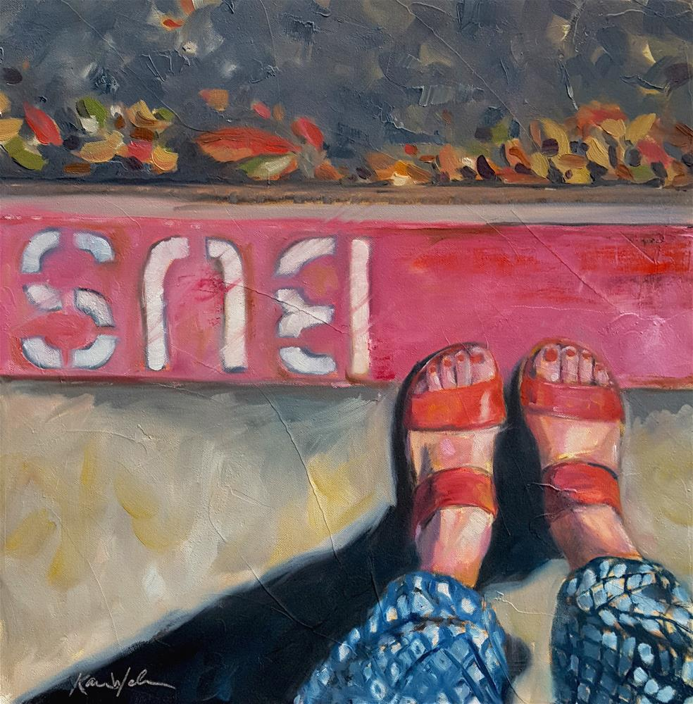 """And She Was"" original fine art by Karen Weber"