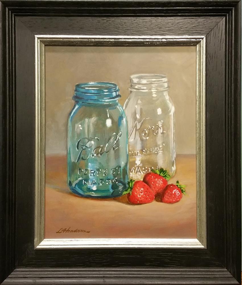 """Strawberry Jam"" original fine art by Lael Henderson"