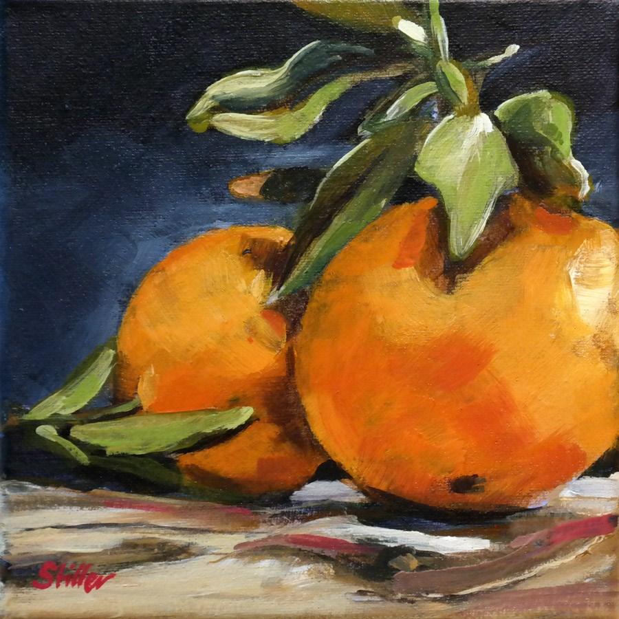 """""""1598 New Year Oranges"""" original fine art by Dietmar Stiller"""
