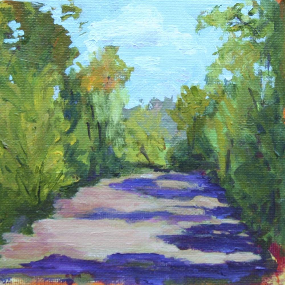 """Colorful Waterway"" original fine art by Beth Carrington Brown"