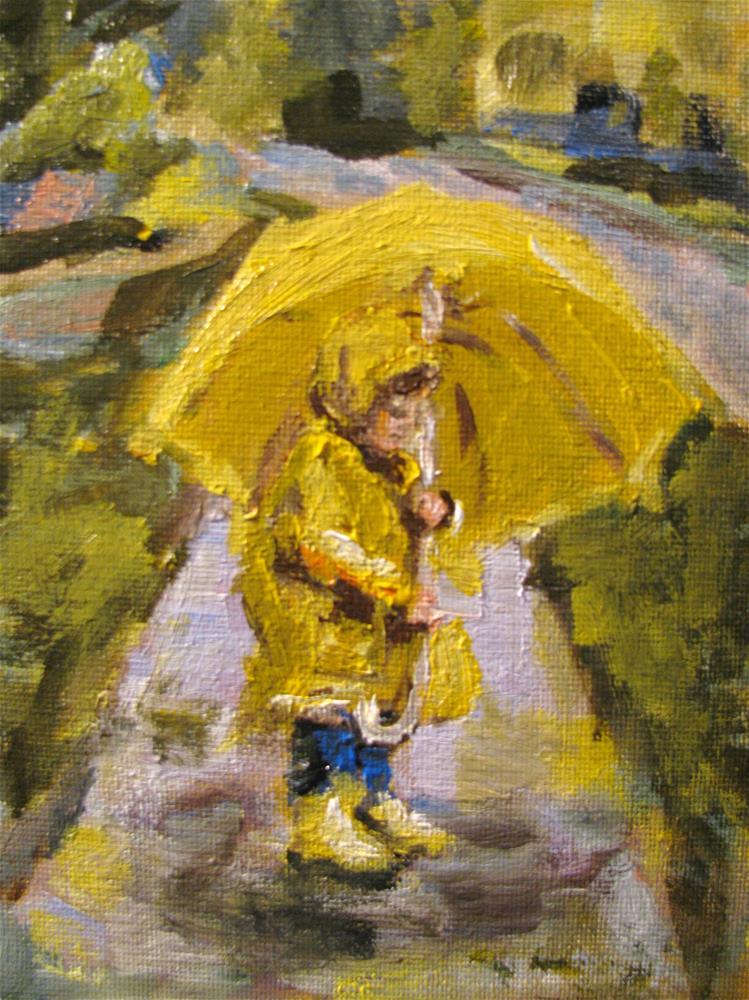 """After the Rain"" original fine art by Susan Elizabeth Jones"