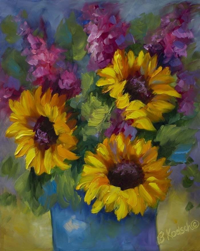 """""""Sunflower Sunshine"""" original fine art by Bobbie Koelsch"""