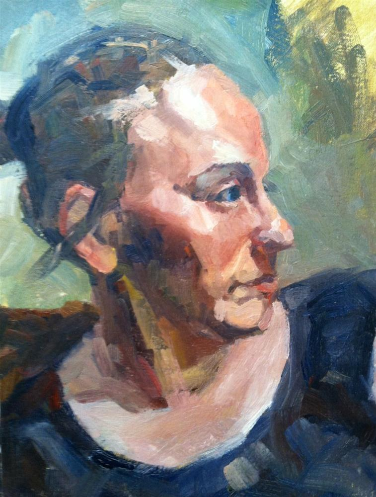 """Woman Portrait"" original fine art by Michael Williamson"