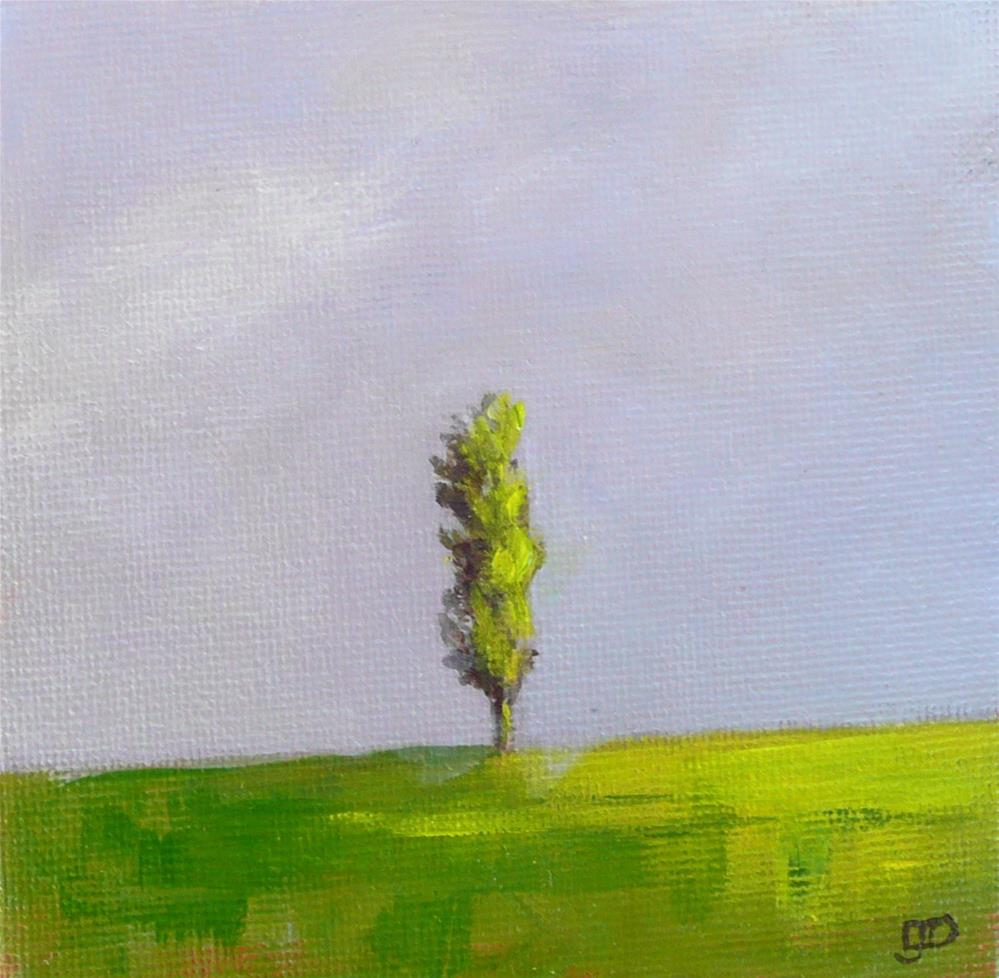 """Poplar On The Hill"" original fine art by Leanne Owen"