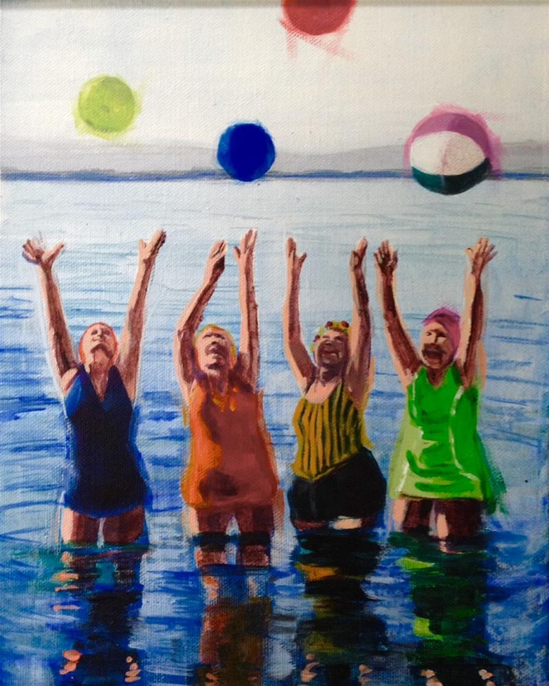 """Joyous Four"" original fine art by Bev Thibault"