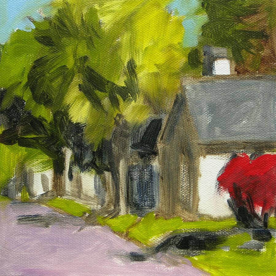 """Harraseeket Road"" original fine art by Bobbi Heath"