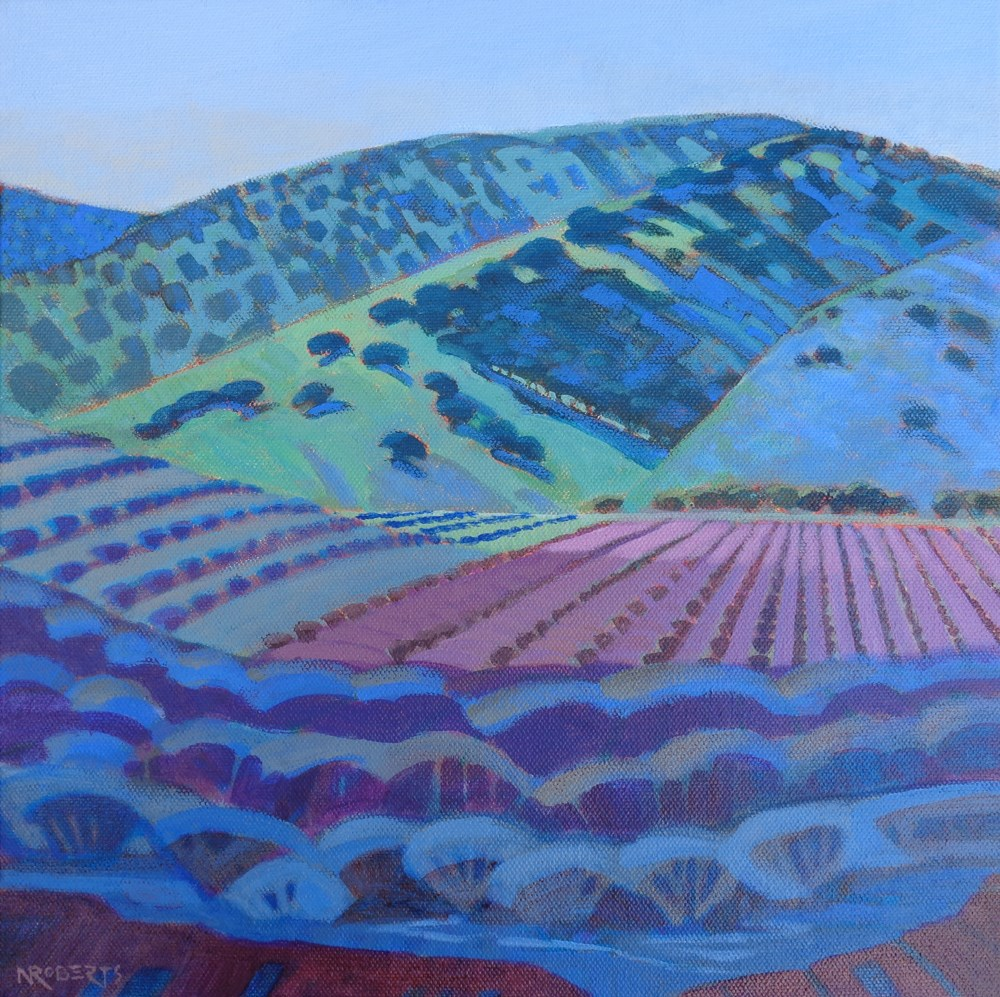 """Round Valley Vineyard"" original fine art by Nancy Roberts"