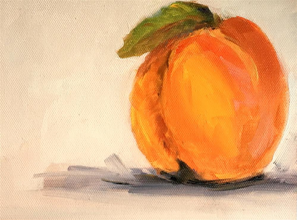 """Peach"" original fine art by Susan Elizabeth Jones"