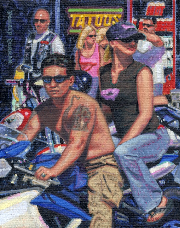 """Street Fun"" original fine art by Donald Curran"