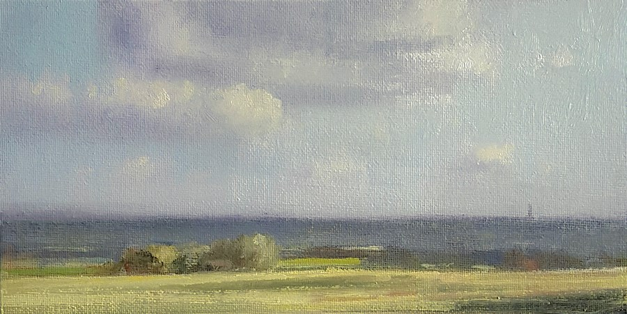 """""""Late Afternoon, Chilterns"""" original fine art by Neil Carroll"""