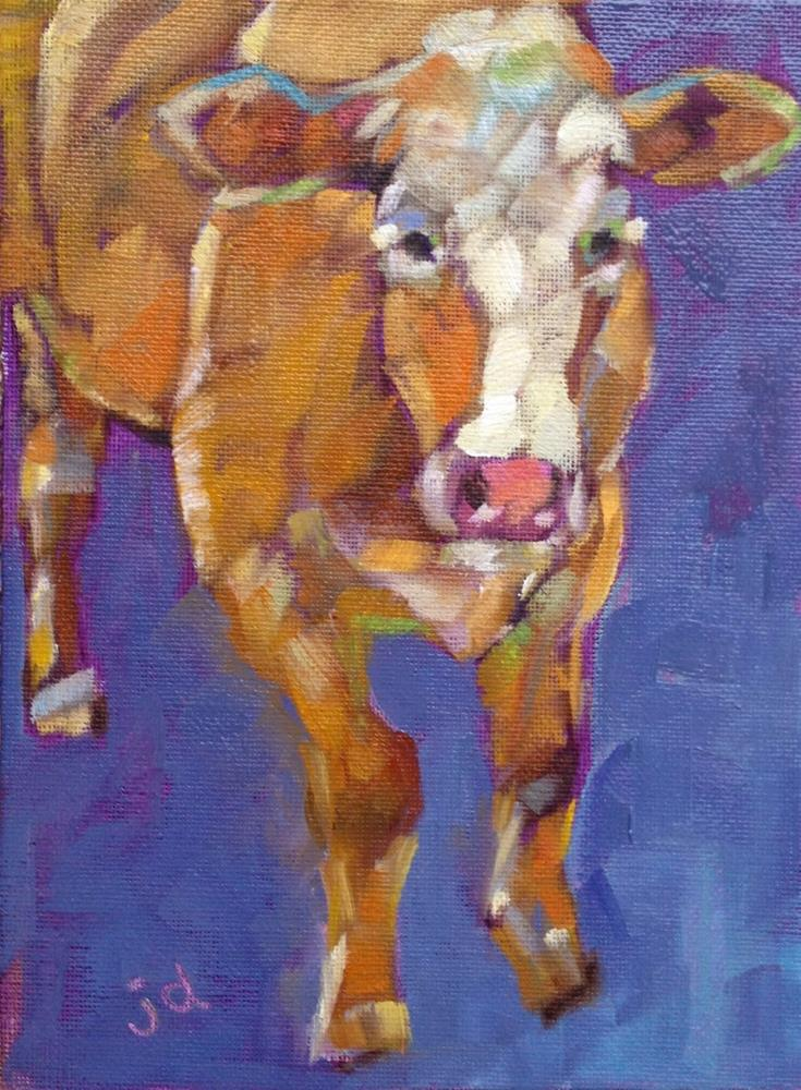 """Cow 29...The Boss"" original fine art by Jean Delaney"