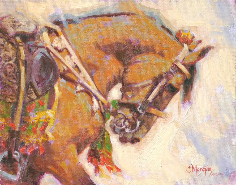 """Marwari 'Dancing Horse' of Pakistan"" original fine art by Cecile W. Morgan"