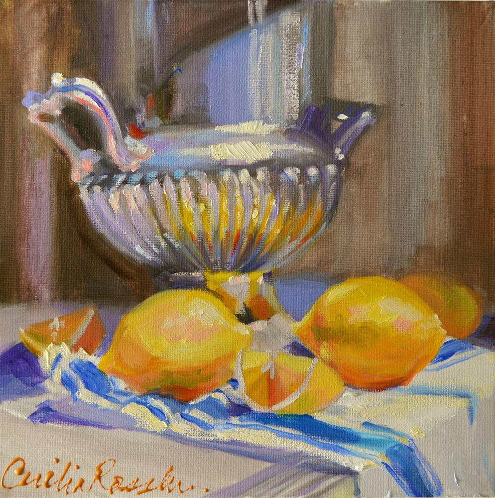 """LEMONS"" original fine art by Cecilia Rosslee"