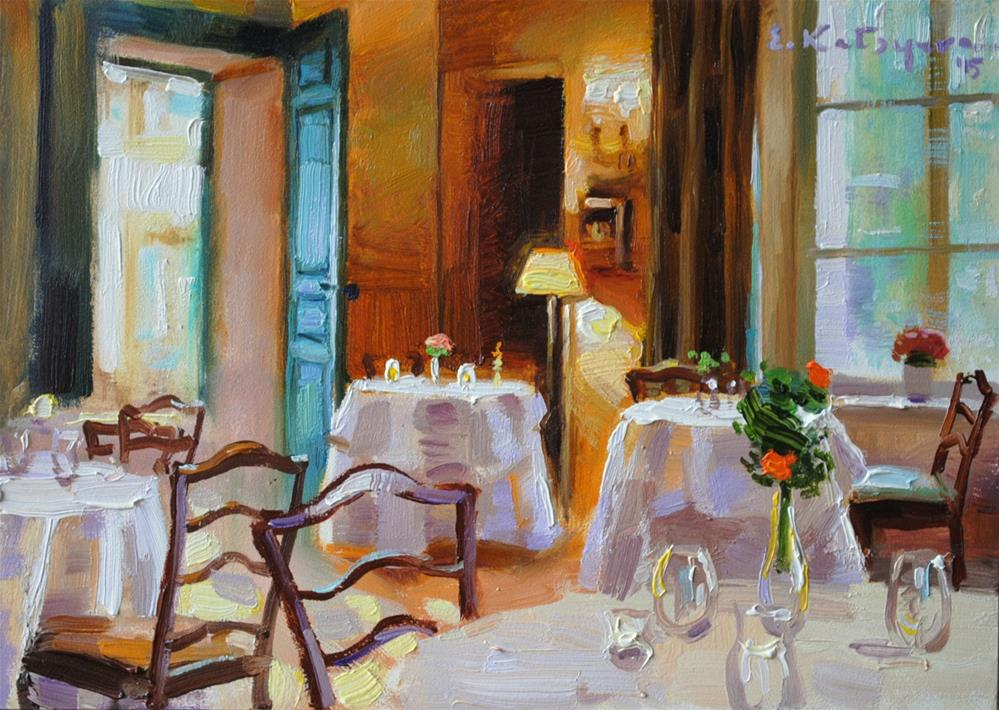 """Guests Will Be Here Soon"" original fine art by Elena Katsyura"