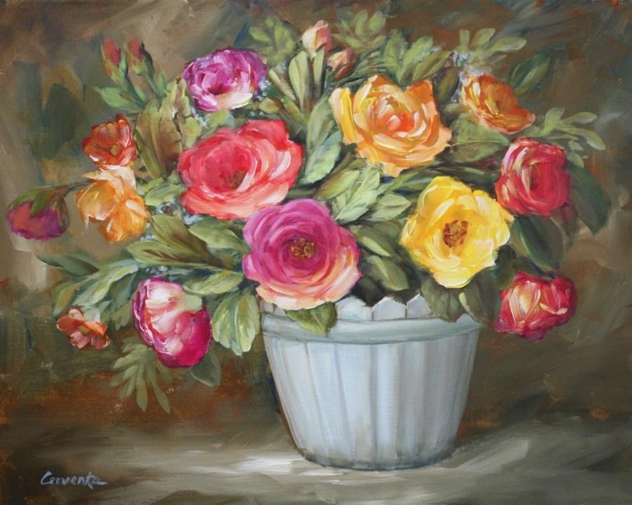 """Garden Party"" original fine art by Sue Cervenka"