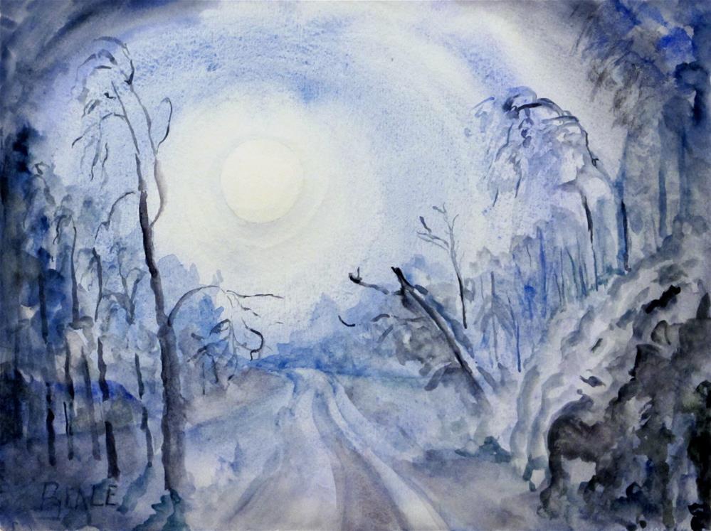 """Long Night Moon"" original fine art by  David Beale"