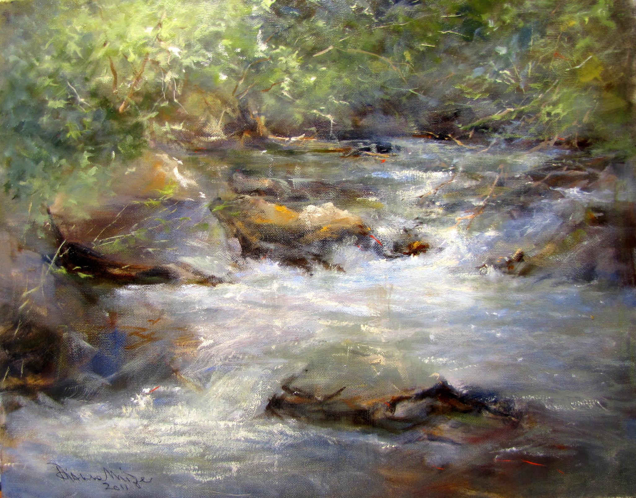 """Tallulah, Late September"" original fine art by Dianne Mize"