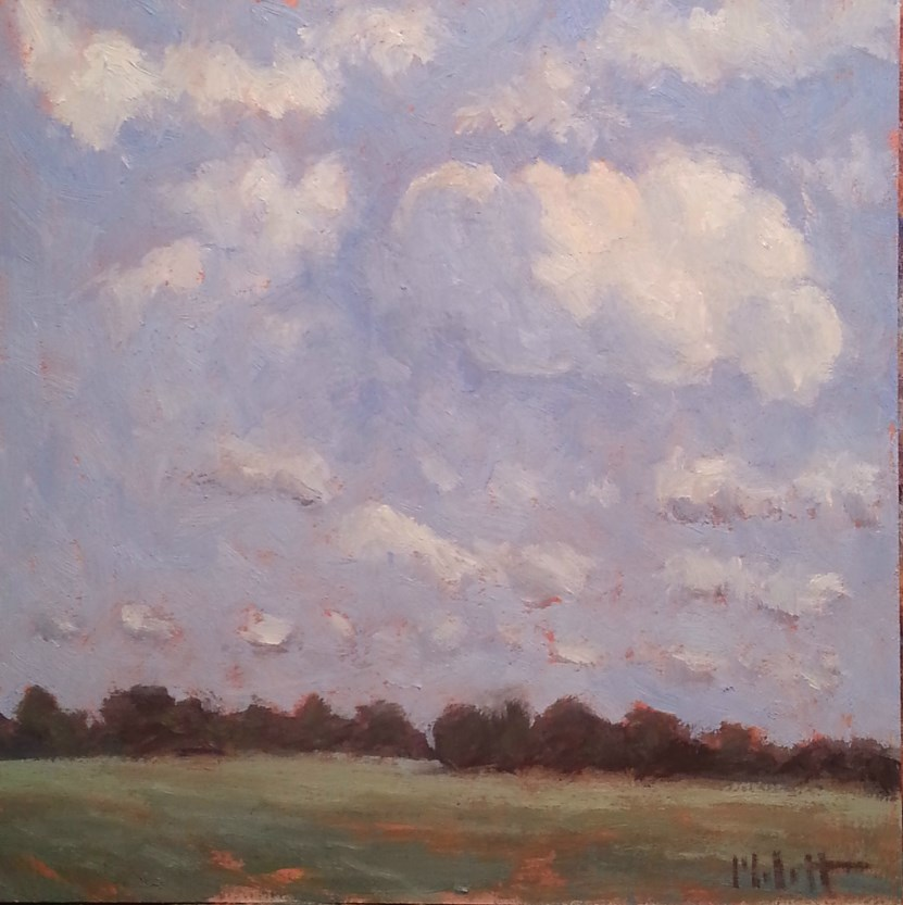 """Weekend Clouds Impressionist Landscape"" original fine art by Heidi Malott"