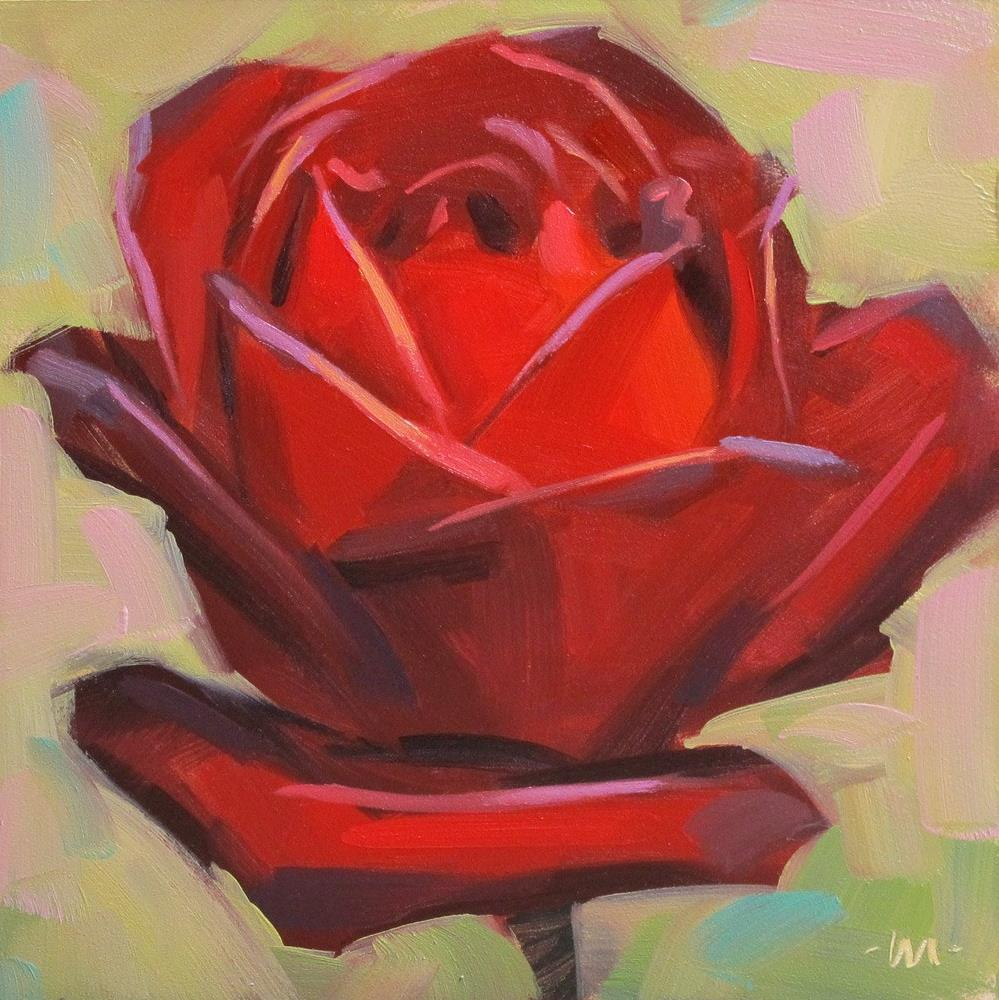 """Red Rose II"" original fine art by Carol Marine"