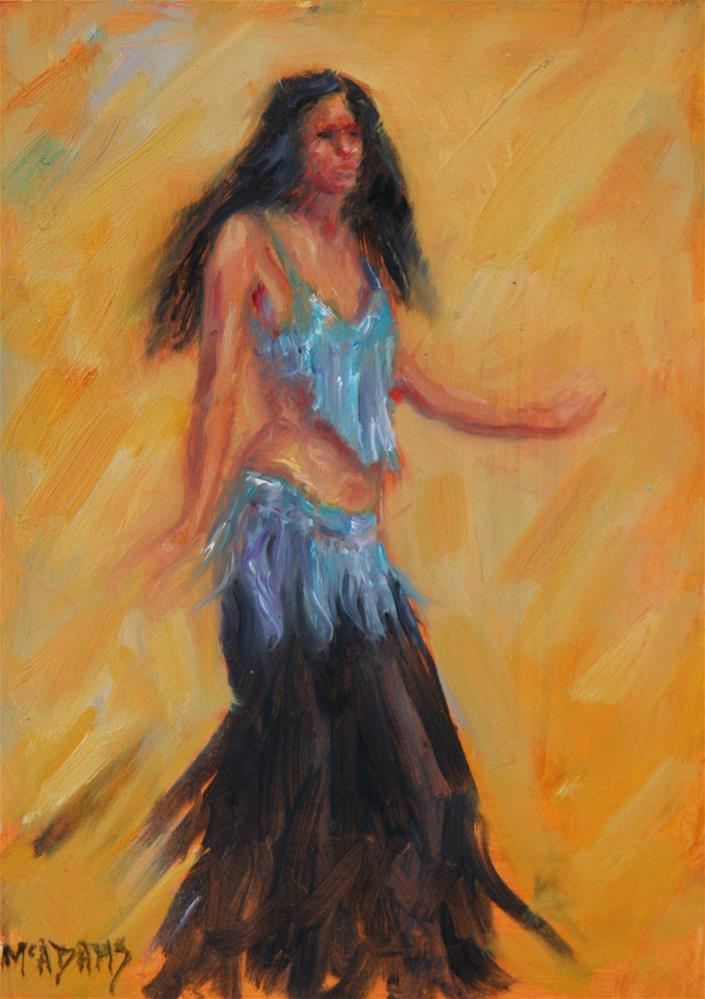 """The Belly Dancer"" original fine art by Phyllis McAdams"