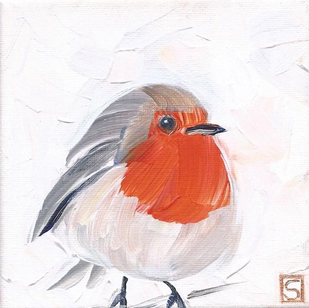 """""""4206 - Robert Robin"""" original fine art by Sea Dean"""
