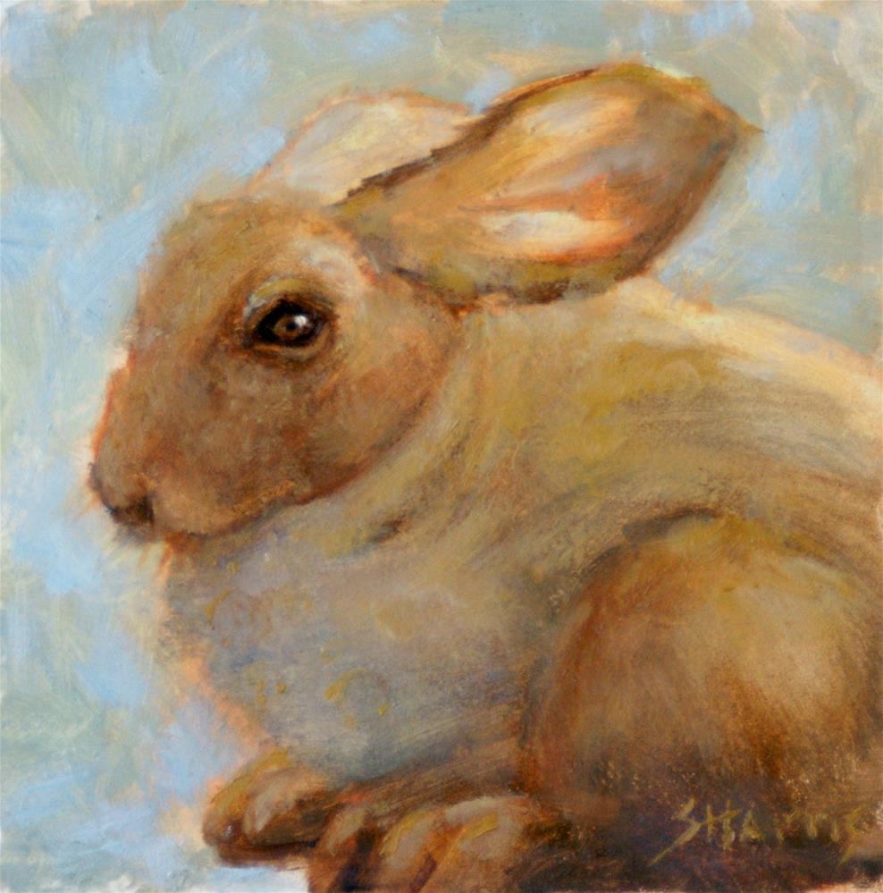 """Honey Bunny"" original fine art by Sandra L Harris"