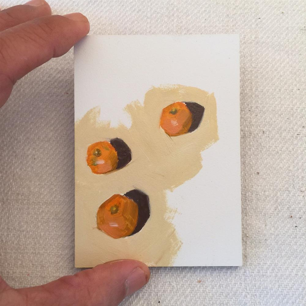 """343 Tiny Tangerines"" original fine art by Jenny Doh"