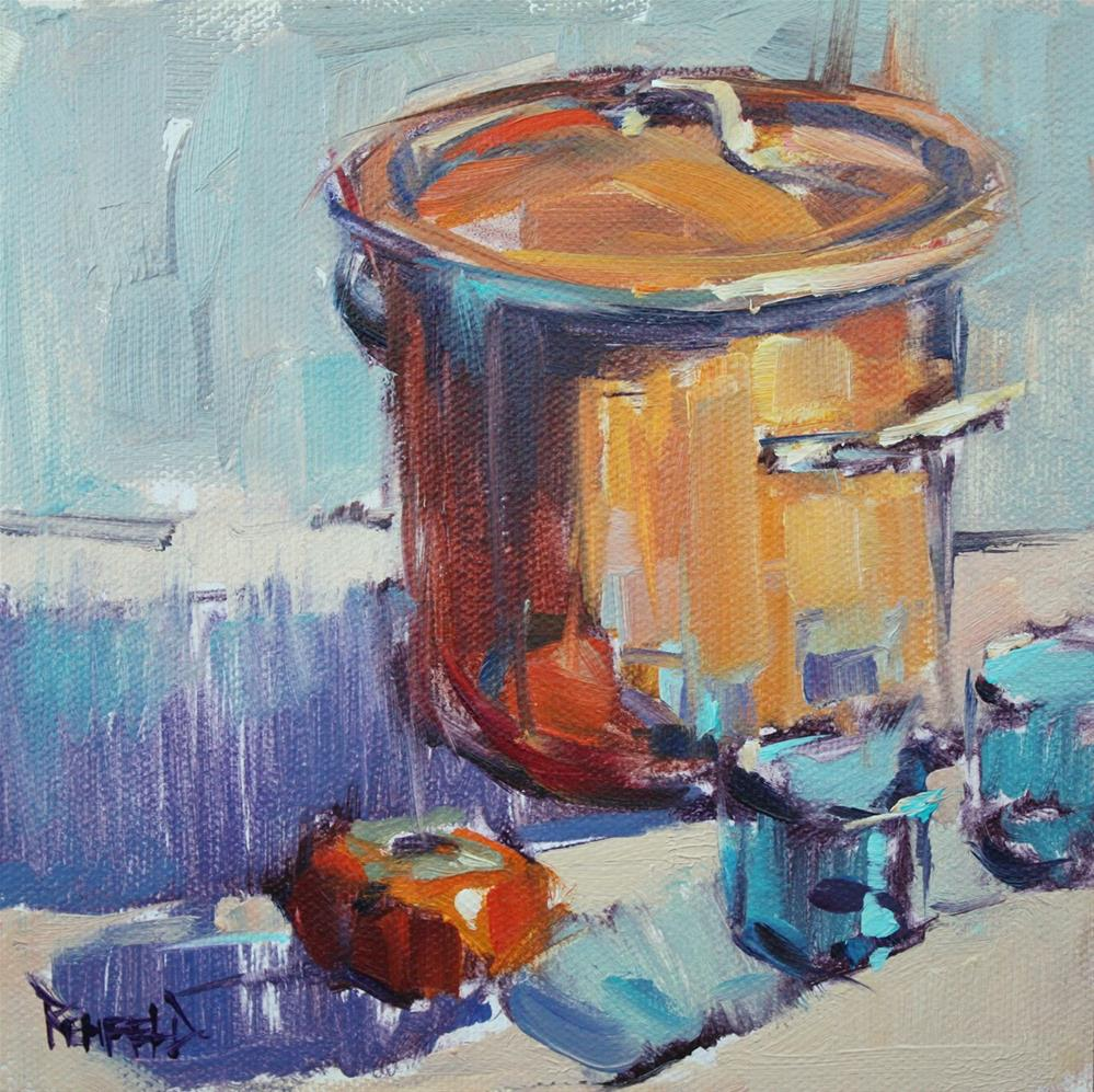 """My Mother's Copper Pot"" original fine art by Cathleen Rehfeld"