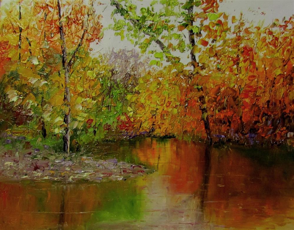 """8 x 10 inch oil Fall Colors #5"" original fine art by Linda Yurgensen"