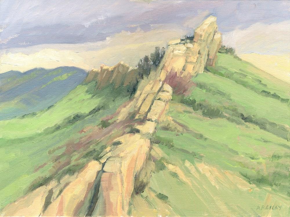 """Backbone Ridge"" original fine art by Kath Reilly"