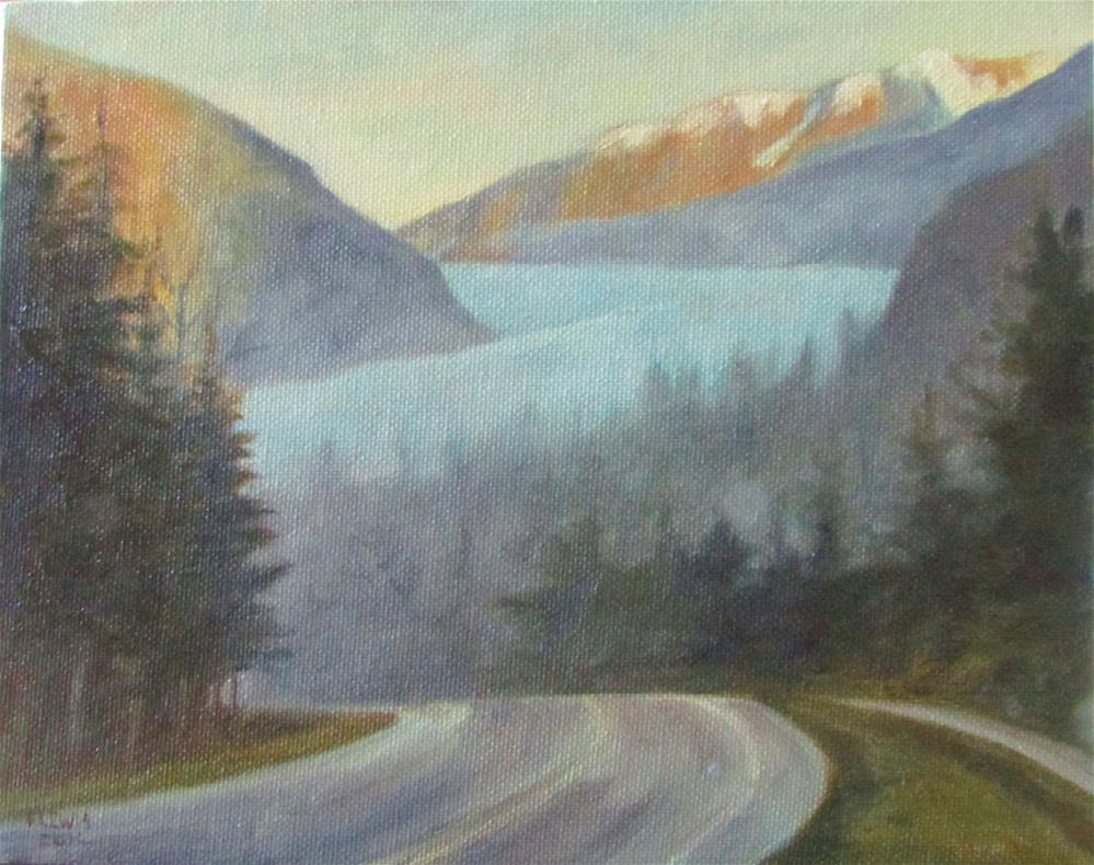 """Foggy Morning Walk to Mendenhall"" original fine art by Christine Lewis"