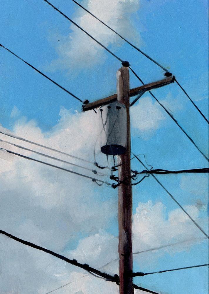 """DAILY DIAPER #261 Cloudy Communication"" original fine art by Brian Burt"