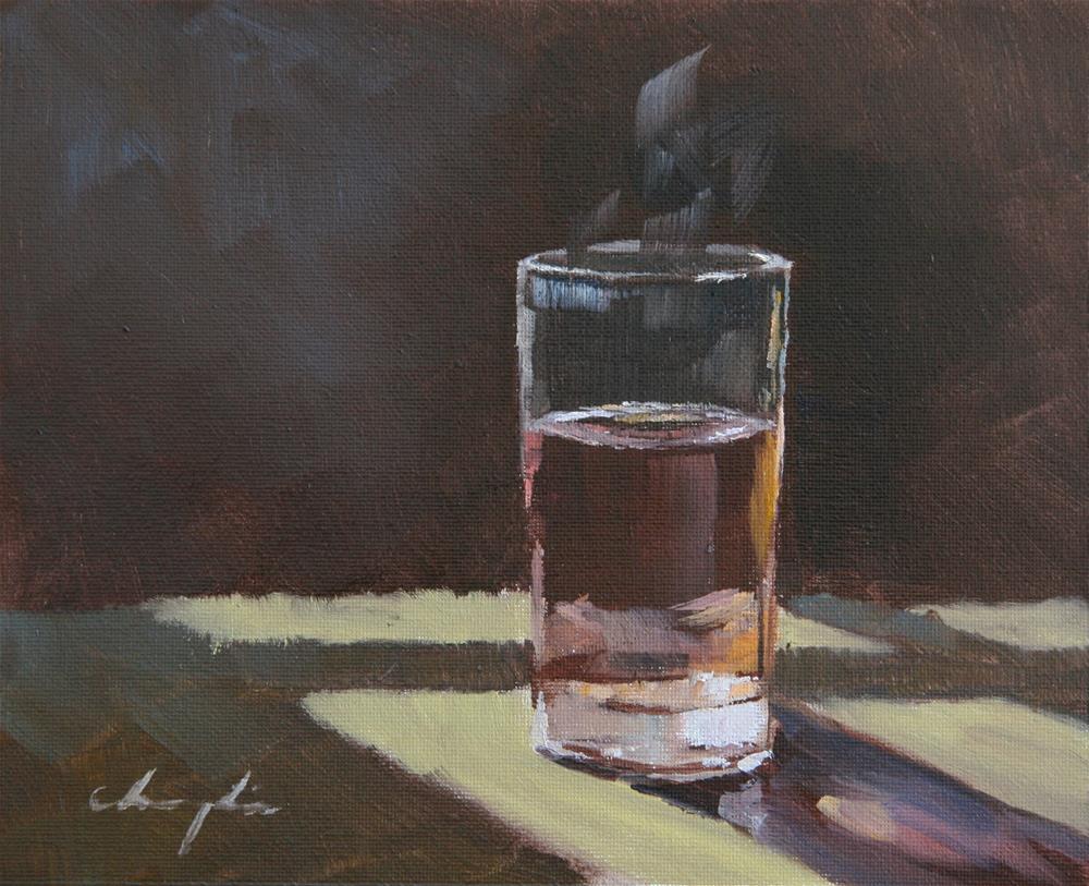 """A Cup of Hot Tea"" original fine art by Chuang Liu"