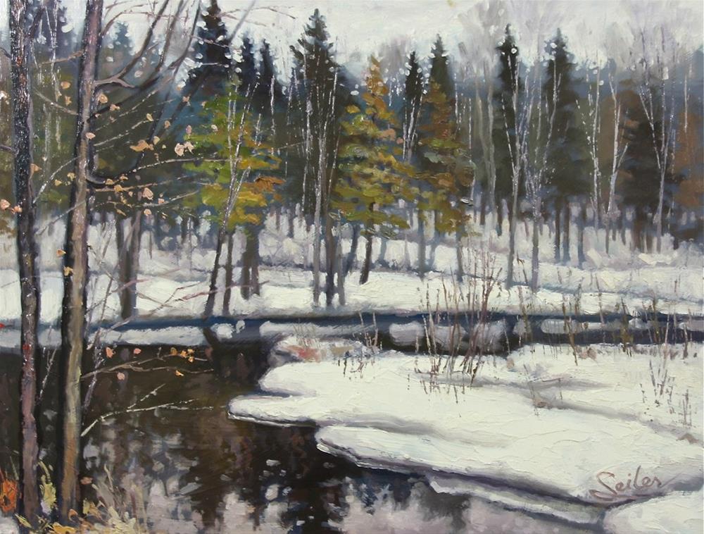 """Winter Cty DD River"" original fine art by Larry Seiler"